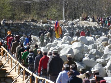 villagers on pilgrimmage